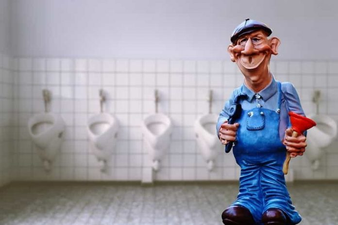install a toilet on a sloping floor